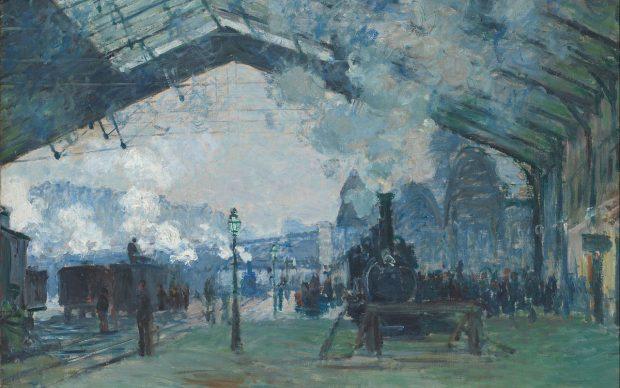 Claude Monet, Arrivo del treno dalla Normandia alla Gare St.Lazare, 1877, Art Institute of Chicago