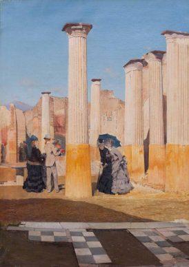 Mostra Ottocento. L'arte dell'Italia tra Hayez e Segantini -  Giuseppe De Nittis: Il foro di Pompei, 1875, olio su tela. Viareggio, courtesy Società di Belle Arti