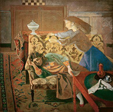 Balthus, The Dream II, 1956-1957. Oil on canvas, 198 x 198 cm, Private collection. Courtesy of Connery & Associates © Balthus, 2019