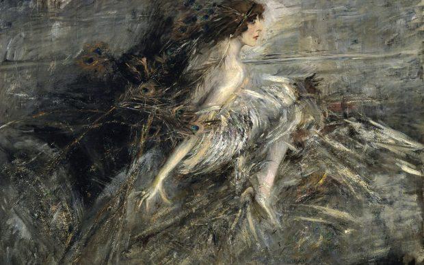 Giovanni Boldini, La marchesa Casati con piume di pavone, 1911-13, Olio su tela, cm 130 x 176, Roma, Galleria Nazionale d'Arte Moderna e Contemporanea