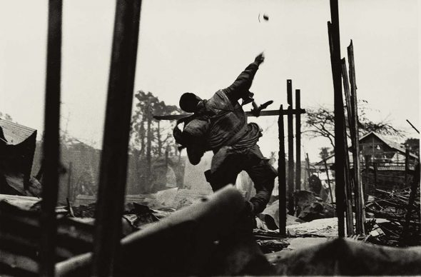 Don McCullin, Grenade Thrower, Hue, Vietnam, 1968. All images courtesy of Don McCullin
