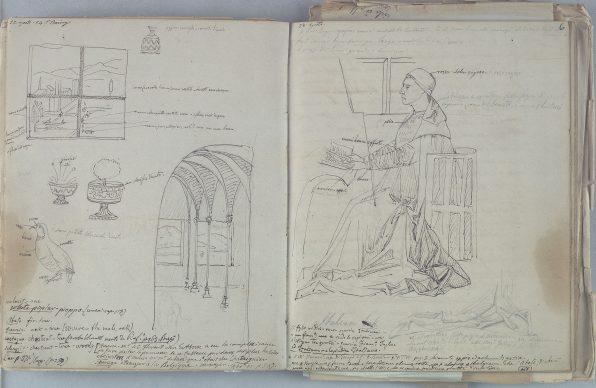Giovan Battista Cavalcaselle, San Girolamo nello studio, da Antonello da Messina, Biblioteca Nazionale Marciana, Venezia