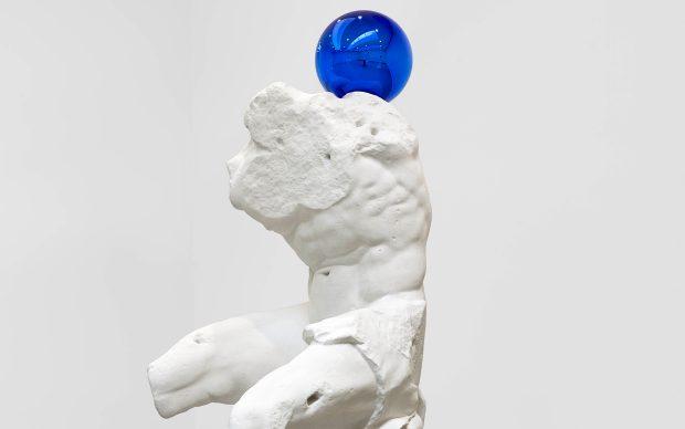 Jeff Koons (b. 1955) Gazing Ball (Belvedere Torso) plaster and glass 181.6 x 75.9 x 89.2 cm © Jeff Koons Artist's proof Edition of 3 2013
