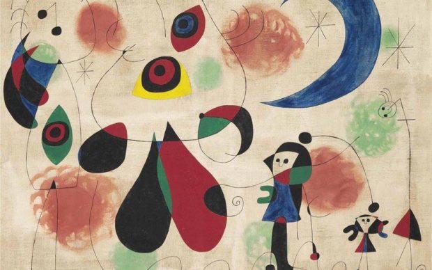 Joan Miró, Painting (Women, Moon, Birds)