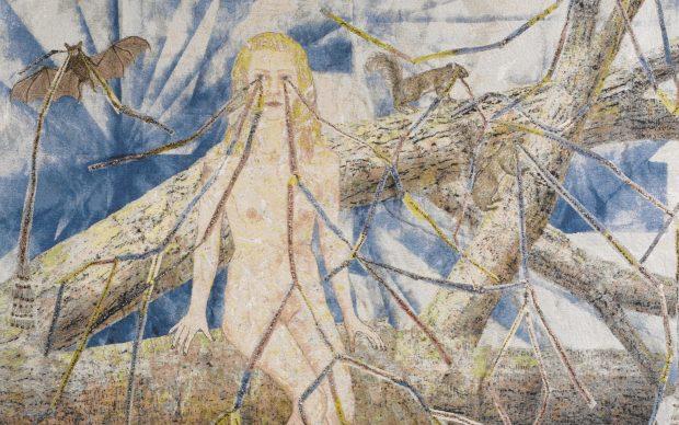 Kiki Smith Congregation 2014 arazzo in cotone jacquard Oakland, California, Magnolia Editions Per gentile concessione dell'artista e della Pace Gallery