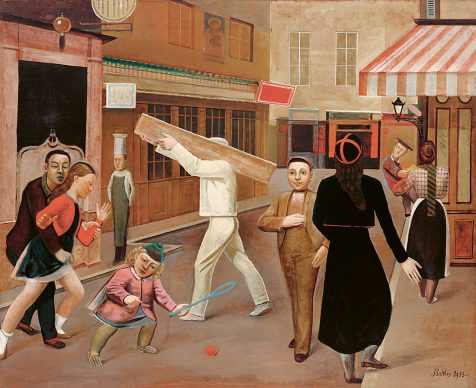 Balthus, The Street, 1933. Oil on canvas, 195 x 240 cm, The Museum of Modern Art, New York Legacy of James Thrall Soby, 1979 © Balthus, 2019