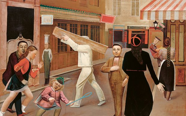 Balthus, The Street, 1933 Oil on canvas, 195 x 240 cm The Museum of Modern Art, New York Legacy of James Thrall Soby, 1979 © Balthus, 2019