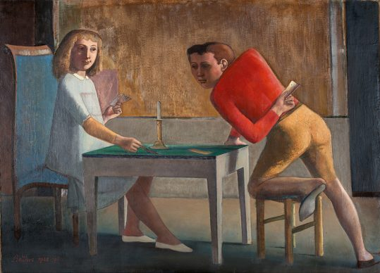 Balthus, The Card Game, 1948-50. Oil on canvas. 140 x 194 cm © Balthus (Balthazar Klossowski de Rola) © Balthus, 2019