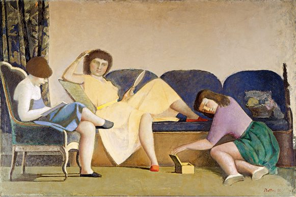 Balthus, The Three Sisters, 1955. Oil on canvas, 130 x 196 cm, Patricia Phelps de Cisneros Collection © Balthus, 2019