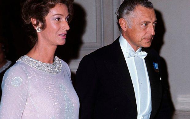 Marella e Gianni Agnelli nel 1966