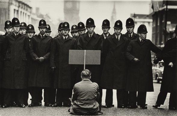 Don McCullin, Protester, Cuban Missile Crisis, Whitehall, London, 1962. All images courtesy of Don McCullin
