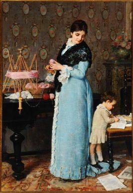 Mostra Ottocento. L'arte dell'Italia tra Hayez e Segantini - Silvestro Lega, Una madre.