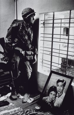 Don McCullin, The Battle for the City of Hue, South Vietnam, US Marine Inside Civilian House, 1968. All images courtesy of Don McCullin