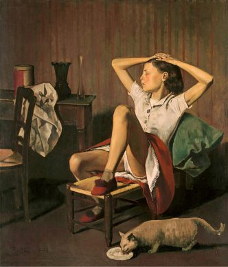 Balthus, Thérèse dreaming, 1938.  Oil on canvas, 149.9 x 129.5 cm, The Metropolitan Museum of Art, New York Jacques and Natasha Gelman Collection, 1998 © Balthus, 2019