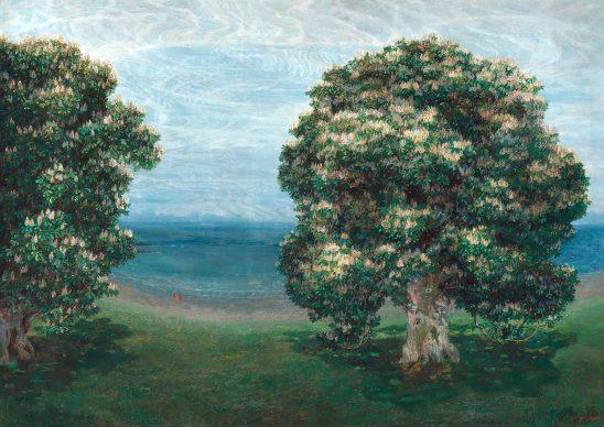 Emilie Mediz-Pelikan, Blossoming Chestnut Trees, 1900. Photo: Johannes Stoll © Belvedere, Vienna