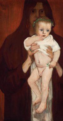 Elena Luksch-Makowsky, Ver Sacrum. Self-Portrait with Son Peter, 1901. Photo: Johannes Stoll © Belvedere, Vienna
