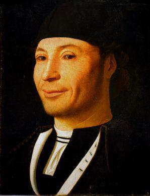 Antonello da Messina, Ritratto d'uomo, 1470 ca., olio su tavola di noce,  30,5 x 26,3 cm, Museo della Fondazione Culturale Mandralisca, Cefalù (PA). Crediti fotografici: Giulio Archinà