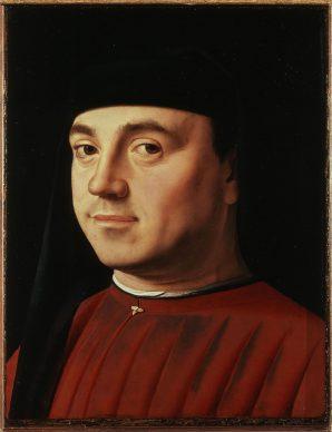 Antonello da Messina, Ritratto d'uomo  (Michele Vianello?), 1475 ca., Galleria Borghese, Roma. Crediti fotografici: © 2018. Foto Scala, Firenze