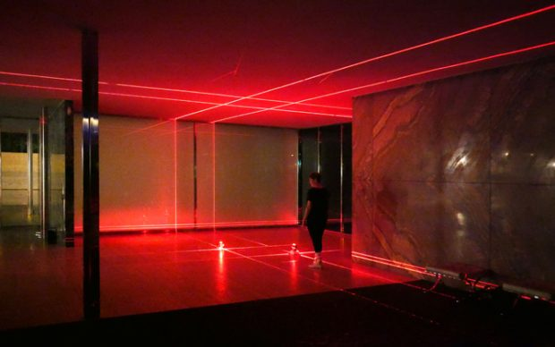 Luftwerk & Iker Gil. Geometry of Light, Barcelona Pavillion by Mies van der Rohe