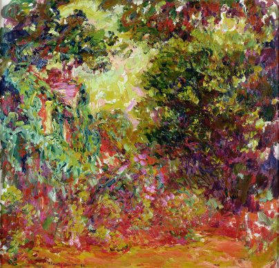 """Claude Monet, """"The Artist's House Seen from the Rose Garden"""", 1922-24 Oil on canvas 35 x 36  in. (89 x 92 cm) Musée Marmottan Monet Paris France W.1944 Image provided courtesy of the Fine Arts Museums of San Francisco"""