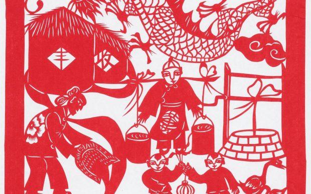 ricami di carta tradizione cinese mao torino