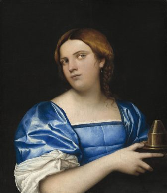 Sebastiano del Piombo, Woman in Blue with Incense Burner, c. 1510/11. Oil on panel transferred to hardboard, 54,7 x 47,5 cm, Washington, National Gallery of Art © Samuel H. Kress Collection