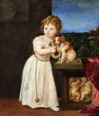 Tiziano, Portrait of Clarice Strozzi, 1542. Oil on canvas, 121,7 x 104,6 cm, Berlin, Staatliche Museen, Gemäldegalerie © bpk / Gemäldegalerie, SMB / Christoph Schmidt
