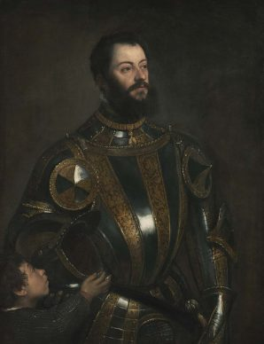 Tiziano, Portrait of Alfonso d'Avalos with Page, um 1533. Oil on canvas, 110 x 80 cm, Los Angeles, The J. Paul Getty Museum © Digital image courtesy of the Getty's Open Content Program