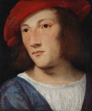 Tiziano, Portrait of a Young Man, ca. 1510. Oil on poplar, 20 x 17 cm, Frankfurt am Main, Städel Museum © Städel Museum – ARTOTHEK