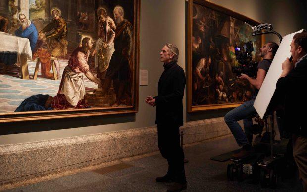 Jeremy Irons durante la lavorazione de Il Museo del Prado. La Corte delle Meraviglie