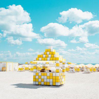 David Behar, Yellow and White Cabana, 2019 Copyright:© David Behar, United States of America, Shortlist, Professional, Architecture (Professional competition), 2019 Sony World Photography Awards