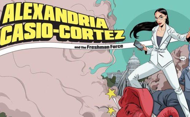 Alexandria Ocasio-Cortez parlamentare dem stati uniti fumetto comics supereroina