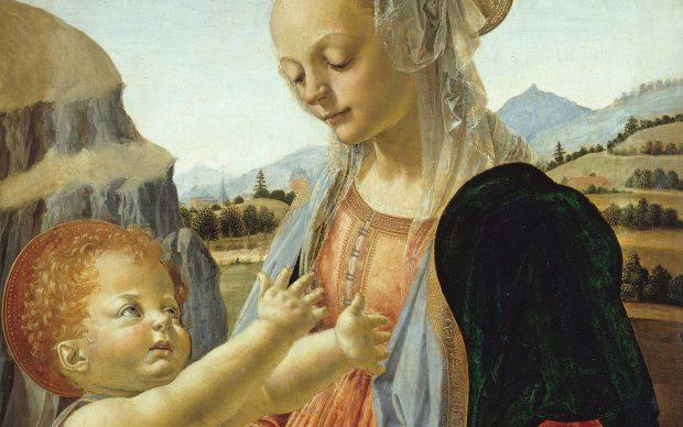 Andrea del Verrocchio (Firenze, 1435 circa -Venezia, 1488) Madonna col Bambino 1470 o 1475 circa, tempera e olio