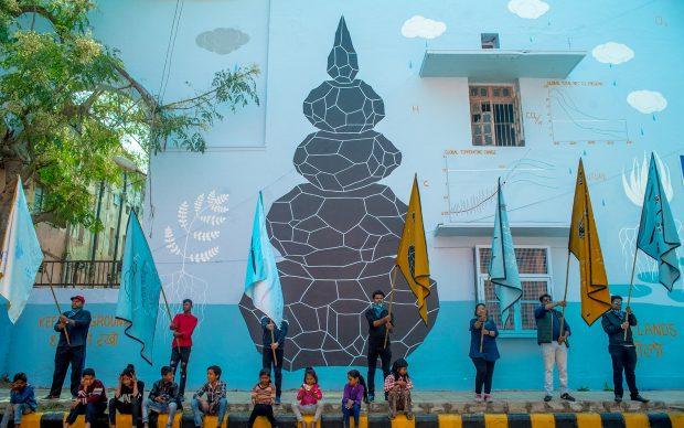 Andreco Climate 5 Parade New Delhi murale performance