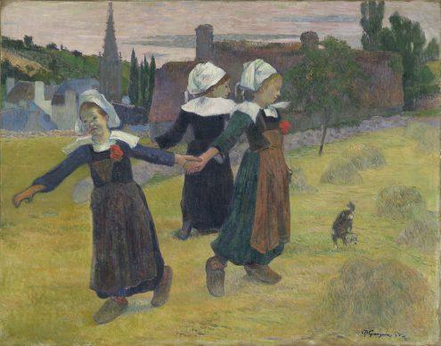 Paul Gauguin, Breton Girls Dancing, 1888, Collection of Mr. and Mrs. Paul Mellon, National Gallery of Art, Washington