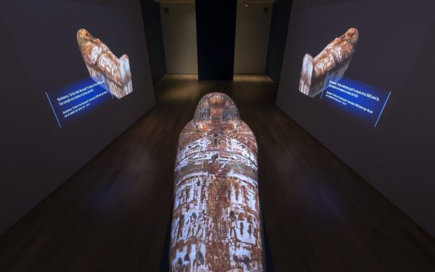 Allestimento della mostra Archeologia invisibile, Museo Egizio di Torino, 16 marzo 2019 - 6 gennaio 2020