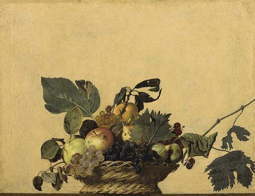Michelangelo Merisi, detto il Caravaggio (1571-1610), Canestra di frutta, 1595 circa, olio su tela, Milano, Veneranda Biblioteca Ambrosiana, Pinacoteca © Veneranda Biblioteca Ambrosiana / Mondadori Portfolio