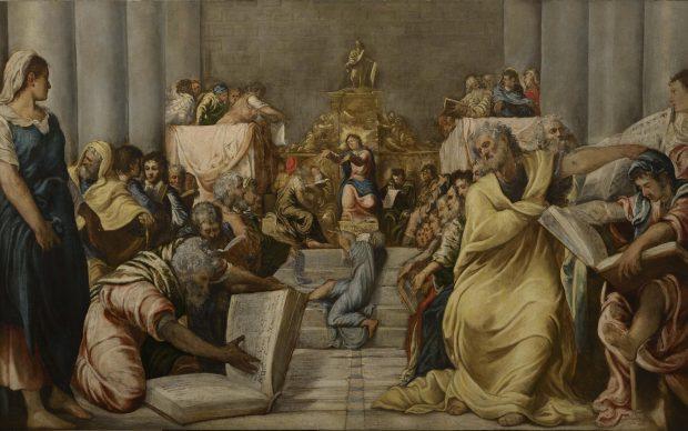 Disputa di Gesù tra i dottori del Tempio, Jacopo Robusti detto il Tintoretto, quinto decennio del XVI secolo, Museo del Duomo di Milano
