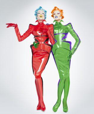 Christian Gautier, stage costumes for the show Mugler Follies, 2013. Photo: Christian Gautier / © Manfred Mugler. Outfits: Thierry Mugler.