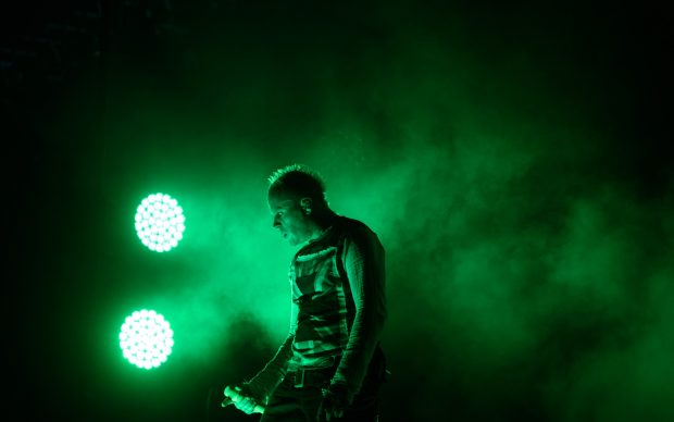Keith Flint of The Prodigy, performs at the 10th annual Incheon Pentaport Rock Festival in Incheon, west of Seoul on Ausust 9, 2015