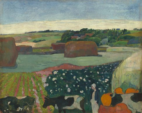 Paul Gauguin, Haystacks in Brittany, 1890, Gift of the W. Averell Harriman Foundation in memory of Marie N. Harriman, National Gallery of Art, Washington