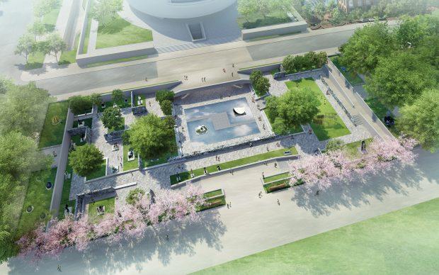 Hiroshi Sugimoto Concept design riprogettazione giardino sculture Hirshhorn Museum Washington