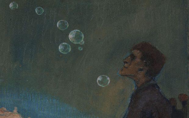 Max Beckmann, Self Portrait with Bubbles, 1900, collezione privata