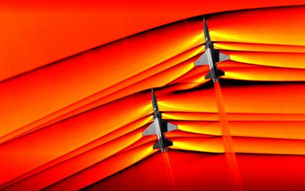 NASA immagini onde urto supersoniche jet in volo