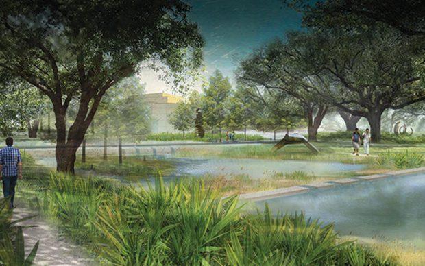 New Orleans Museum of Art Sculpture Garden espansione laguna