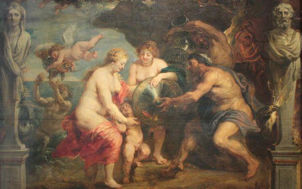 Pieter Paul Rubens, Thétis recevant de Vulcain les armes d'Achille, 1630, Musée des Beaux-Arts de Pau, photo by Tylwyth Eldar, fonte Wikipedia