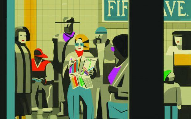 Emiliano Ponzi, La grande mappa della Metropolitana di New York, MoMA - FATATRAC Edizioni