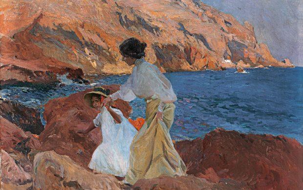 Joaquín Sorolla, Clotilde and Elena on the Rocks, Jávea, 1905, Esther Koplowitz Collection, Archivo fotográfico BPS