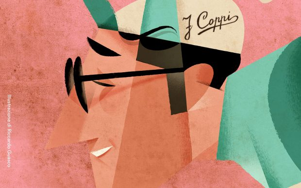 Storia di un campione 100 anni di Fausto Coppi illustrazione Riccardo Guasco