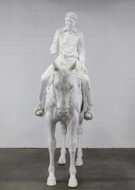 Charles Ray, Caballo y jinete, 2014 © Charles Ray, cortesia de Matthew Marks Gallery